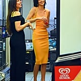 Kendall Jenner Orange Bec and Bridge Dress 2019