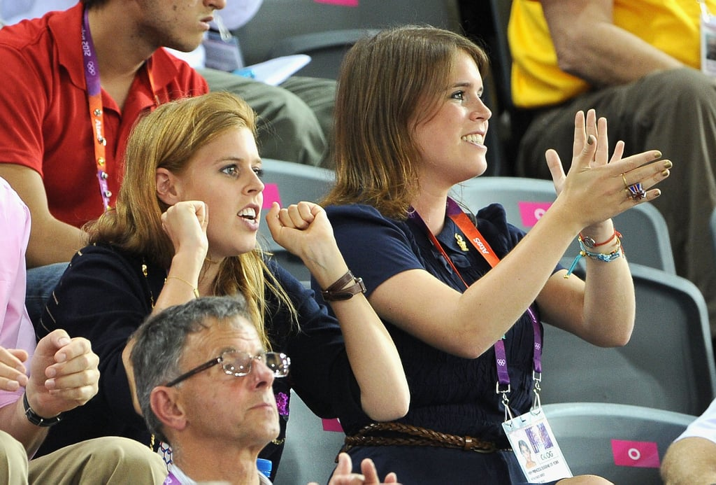 The princesses cheered on Team GB.