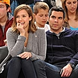 Jessica Alba and Cash Warren Kiss Courtside and Hang With Adorable Honor