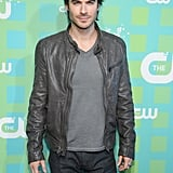 Ian Somerhalder arrived at the CW Upfront in NYC.