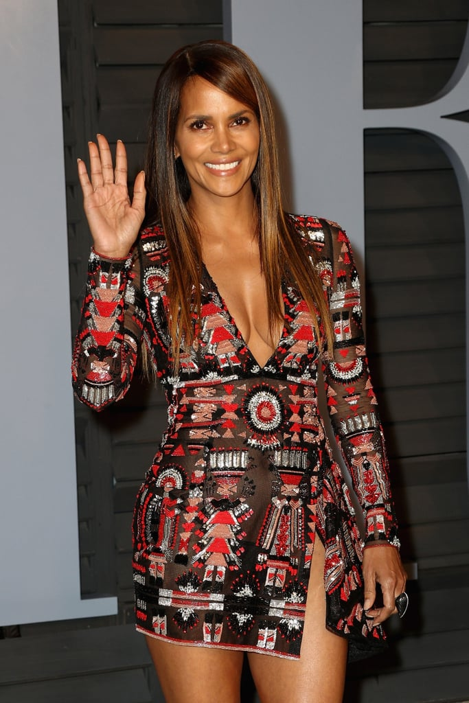 Halle Berry Vanity Fair Oscars Party Dress 2018