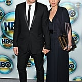 Ewan McGregor and Eve Mavrakis hold hands at the HBO party.