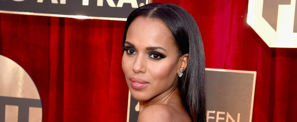So This Is How Kerry Washington Got Her Hair So Smooth For the SAGs