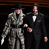 Keanu Reeves and Diane Keaton at the 2020 Oscars