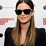 Rachel Bilson wore sunglasses on Fashion's Night Out.