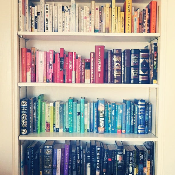 Your second-favourite activity after reading is organising your bookshelves.