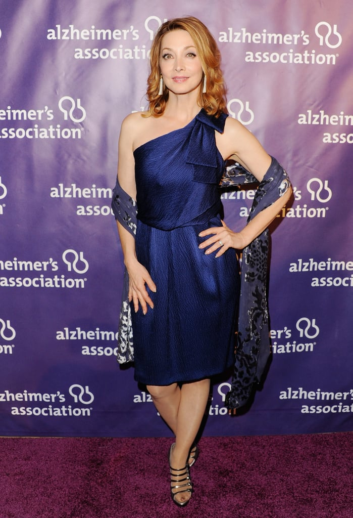 Sharon Lawrence looked lovely in purple.