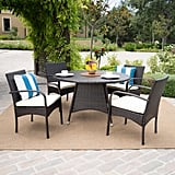 Theodore Outdoor 5-Piece Wicker Dining Set
