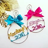 Wire Name and Year Ornament