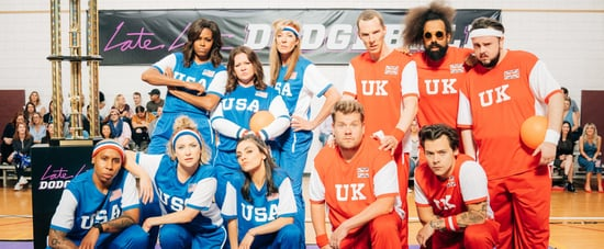 James Corden and Michelle Obama Play Dodgeball Video