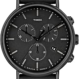 Timex Fairfield Chronograph Perforated Leather Watch (£95)