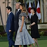 Melania Trump's Carolina Herrera Striped Dress