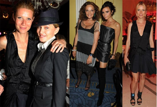 Pictures of Victoria Beckham, Madonna, Gwyneth Paltrow and Diane von Furstenberg at Claridge's