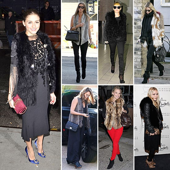 Celebrities Wearing Fur and Faux Fur Winter 2011