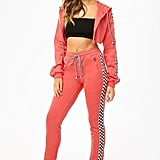 Checkered Hoodie & Ankle-Zip Joggers Set