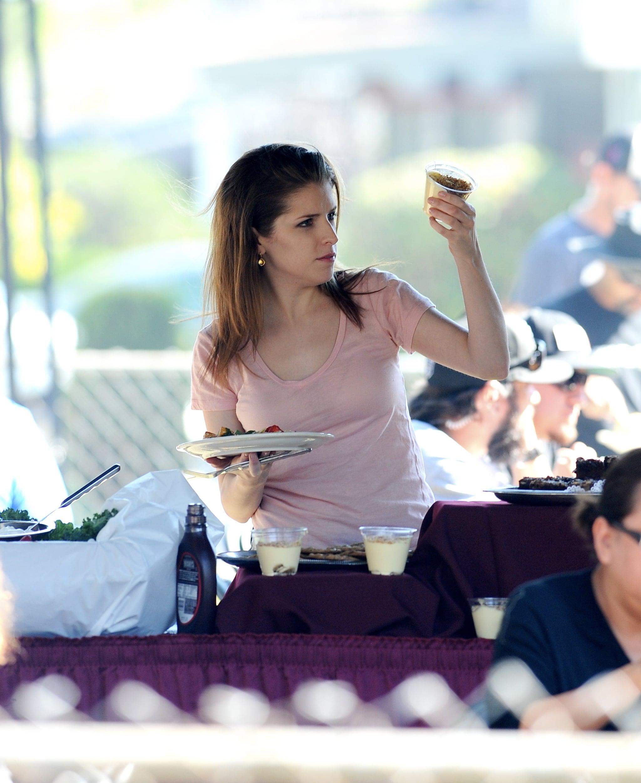 Anna Kendrick Gets Ready to Haunt Jennifer Aniston on Set