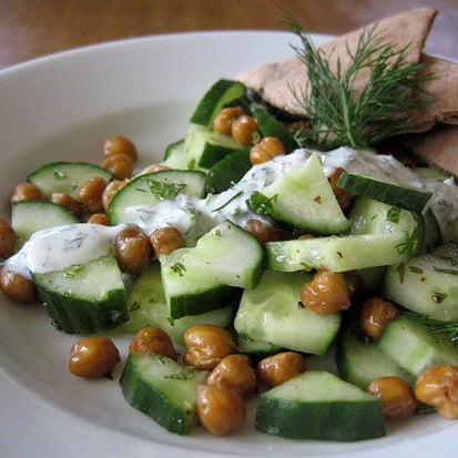 Recipe For Chickpeas and Cucumbers