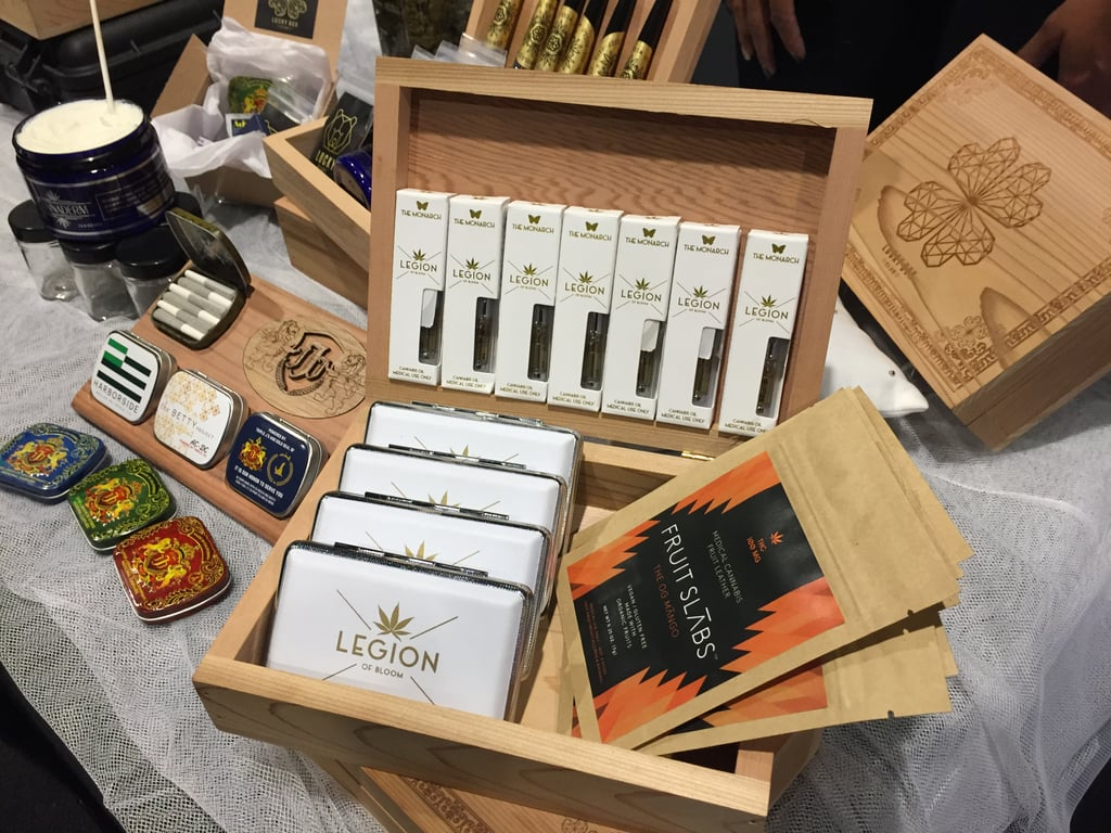 If you really want to treat your guests, display a variety of cannabis goods from mini vapes to medicated fruit leathers that they can choose from.