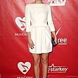 Sara Bareilles walked the red carpet before performing at the 2014 MusiCares Person of the Year event.