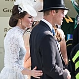 Kate Middleton and Prince William Showing PDA 2017