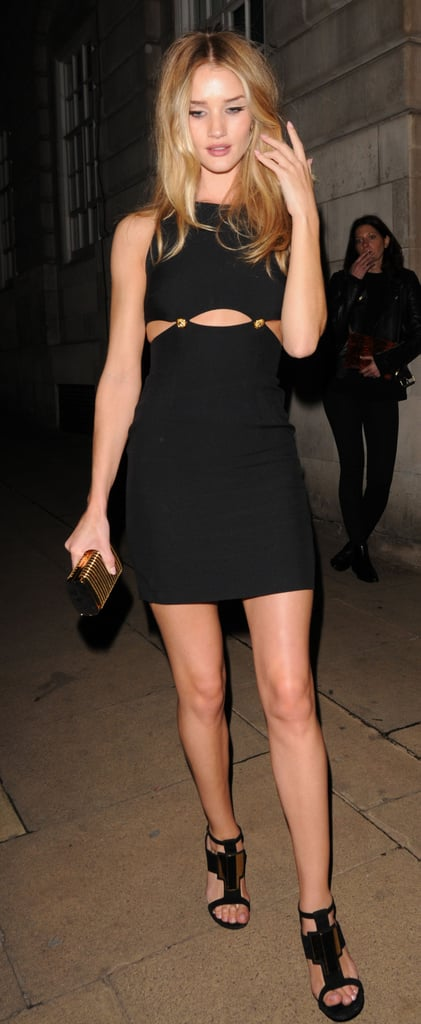 Rosie Huntington-Whiteley spent a night on the town at the AnOther Magazine party.