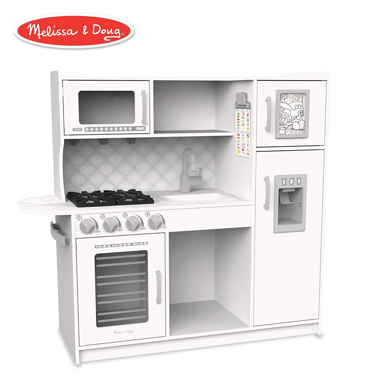 Melissa Doug Wooden Chef S Pretend Play Toy Kitchen