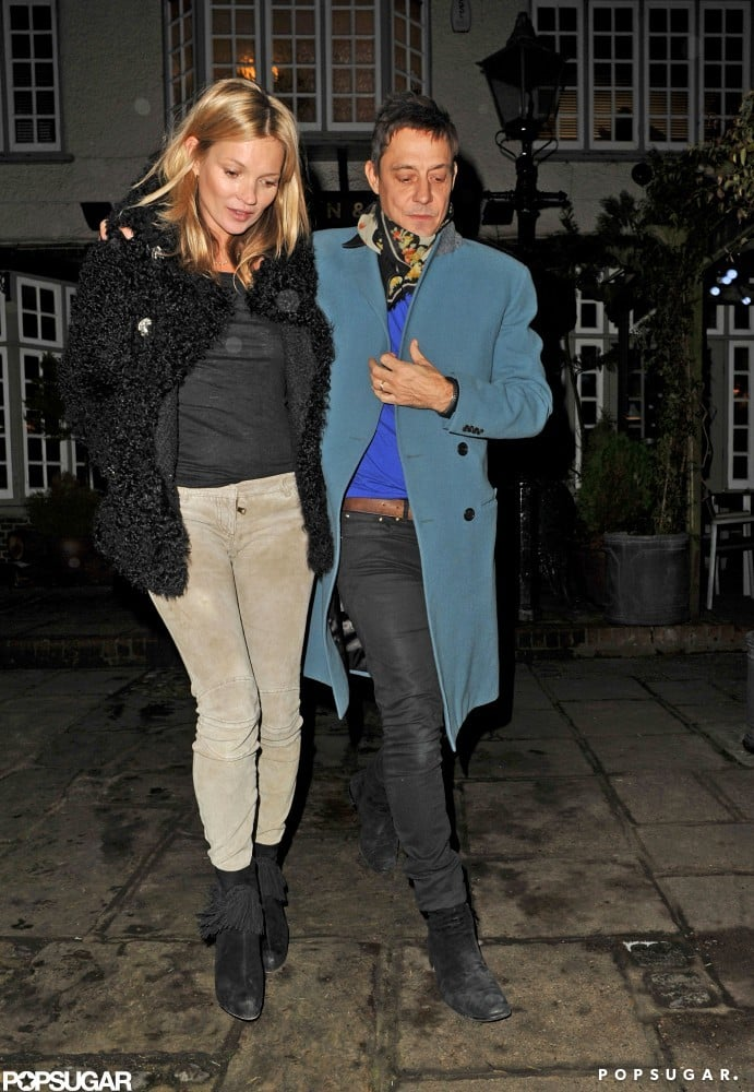 Kate Moss Rings In 39 on a Low-Key Note With Jamie Hince