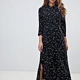 JDY Polka Dot Maxi Shirt Dress
