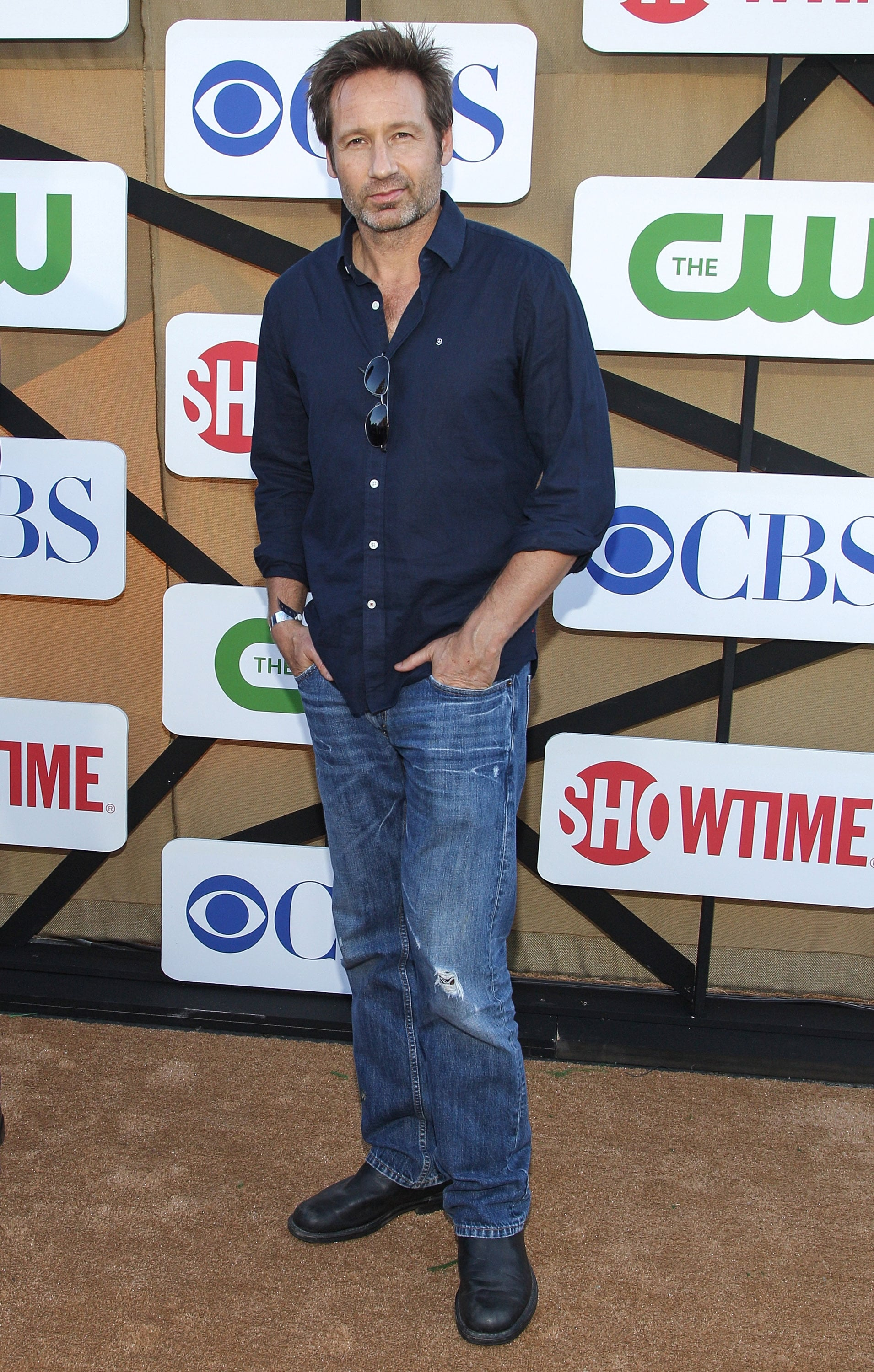 David Duchovny attended a Summer TCA party hosted by The CW, CBS, and Showtime.