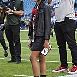 Blue Ivy Carter at the Super Bowl