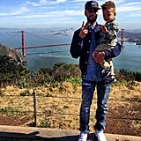 The father-son duo went sightseeing in San Francisco together in March 2013.
