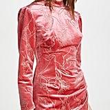 Sandra Mansour Velvet Glitter Minidress