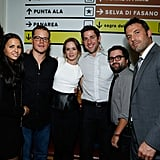 Luciana and Matt Damon joined Emily Blunt, John Krasinski, Mike Sablone, and Ben Affleck for the Argo premiere at the Toronto International Film Festival in September.