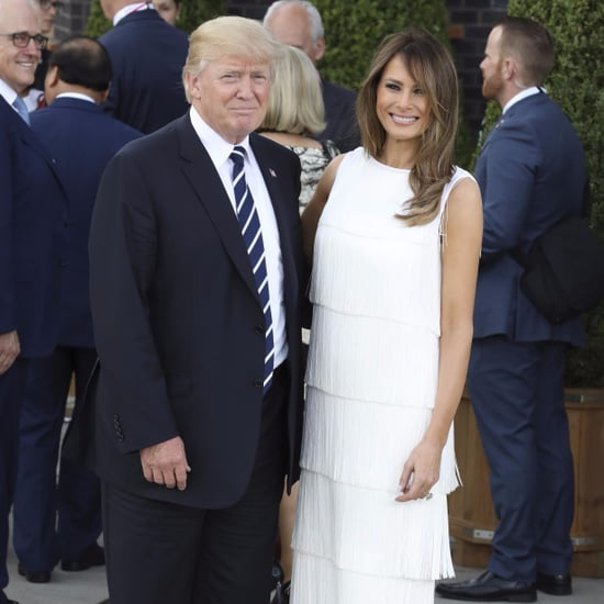 Melania Trump White Flapper Dress G20 Summit 2017