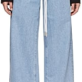 Off-White Blue Baggy Seams Jeans