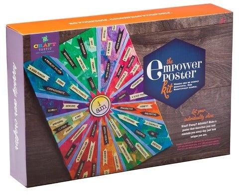 Craft-tastic DIY Empower Poster Kit
