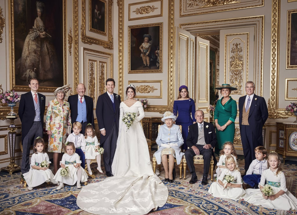 Princess Eugenie and Jack Brooksbank's wedding was filled with sweet moments — including their first kiss and their adorable bridesmaids and pageboys — but their official photos are even more stunning than we could have imagined. On Oct. 13, Kensington Palace provided a glimpse of the photos of the couple on their wedding day on Oct. 12, which were taken at Windsor Castle by photographer Alex Bramall. While the portraits include a few sweet moments among the royal family, it's Eugenie and Jack's moments together that will really make you swoon. See them all ahead!