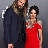 Jason Momoa and Lisa Bonet at Justice League Premiere 2017