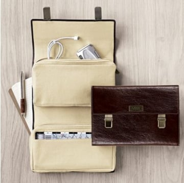 Lovely Brown Leather Gadget Organizer
