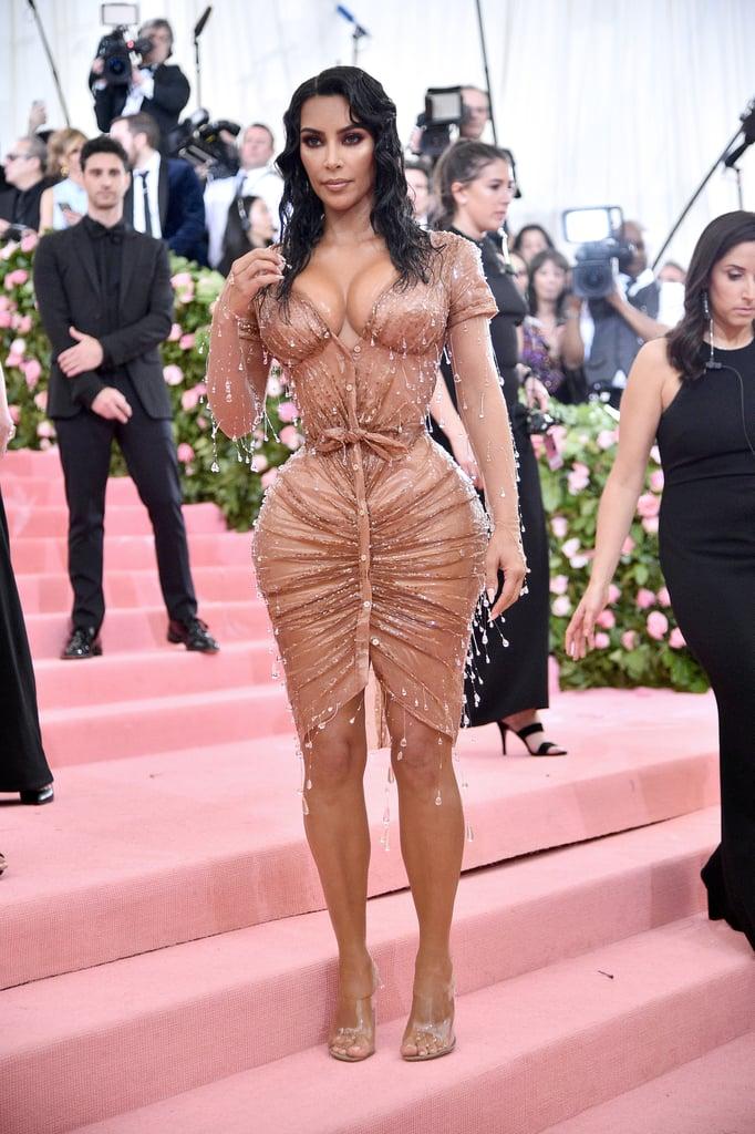 Kim Kardashian and Kanye West at the 2019 Met Gala ...
