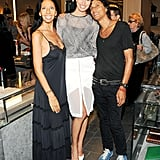 Karolina Kurkova helped launch Inez van Lamsweerde and Vinoodh Matadin's jewelry collection at Barneys.