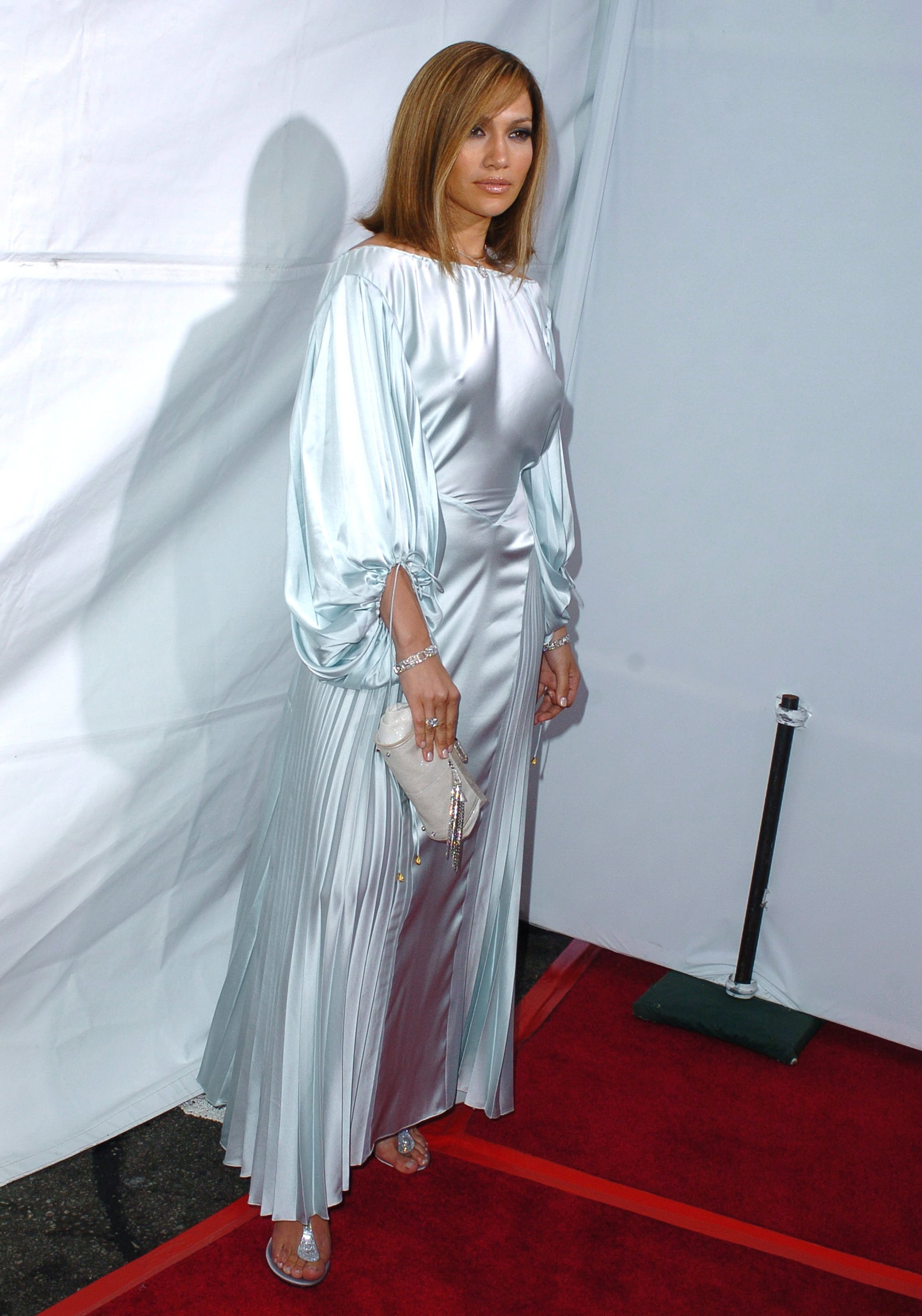 A billowy, white gown for a film premiere in 2005.