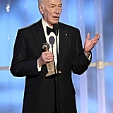 Christopher Plummer thanked his friends and family.