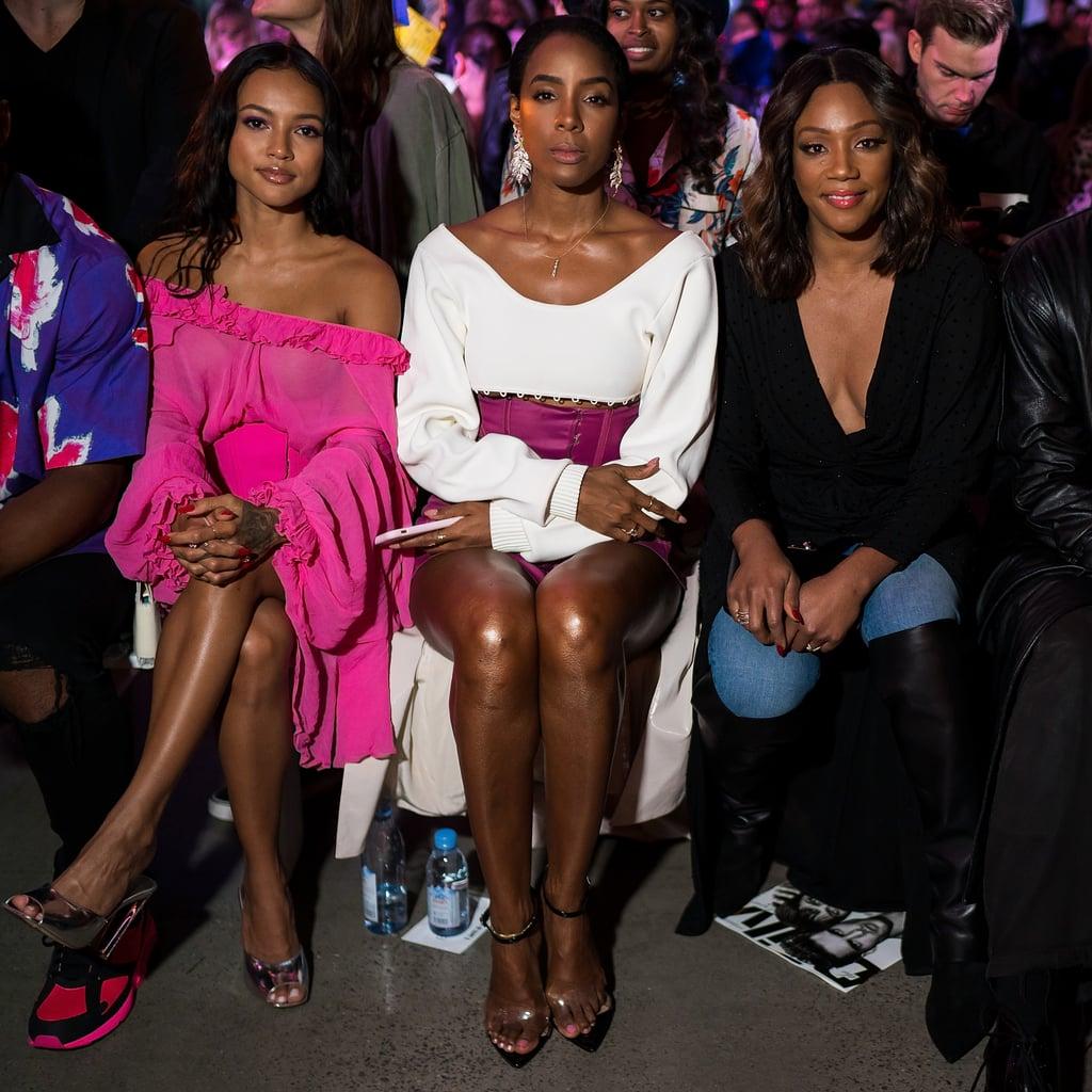 Pictured: Karrueche Tran, Kelly Rowland, and Tiffany Haddish