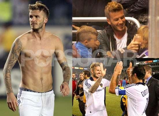 Photos of Shirtless David Beckham