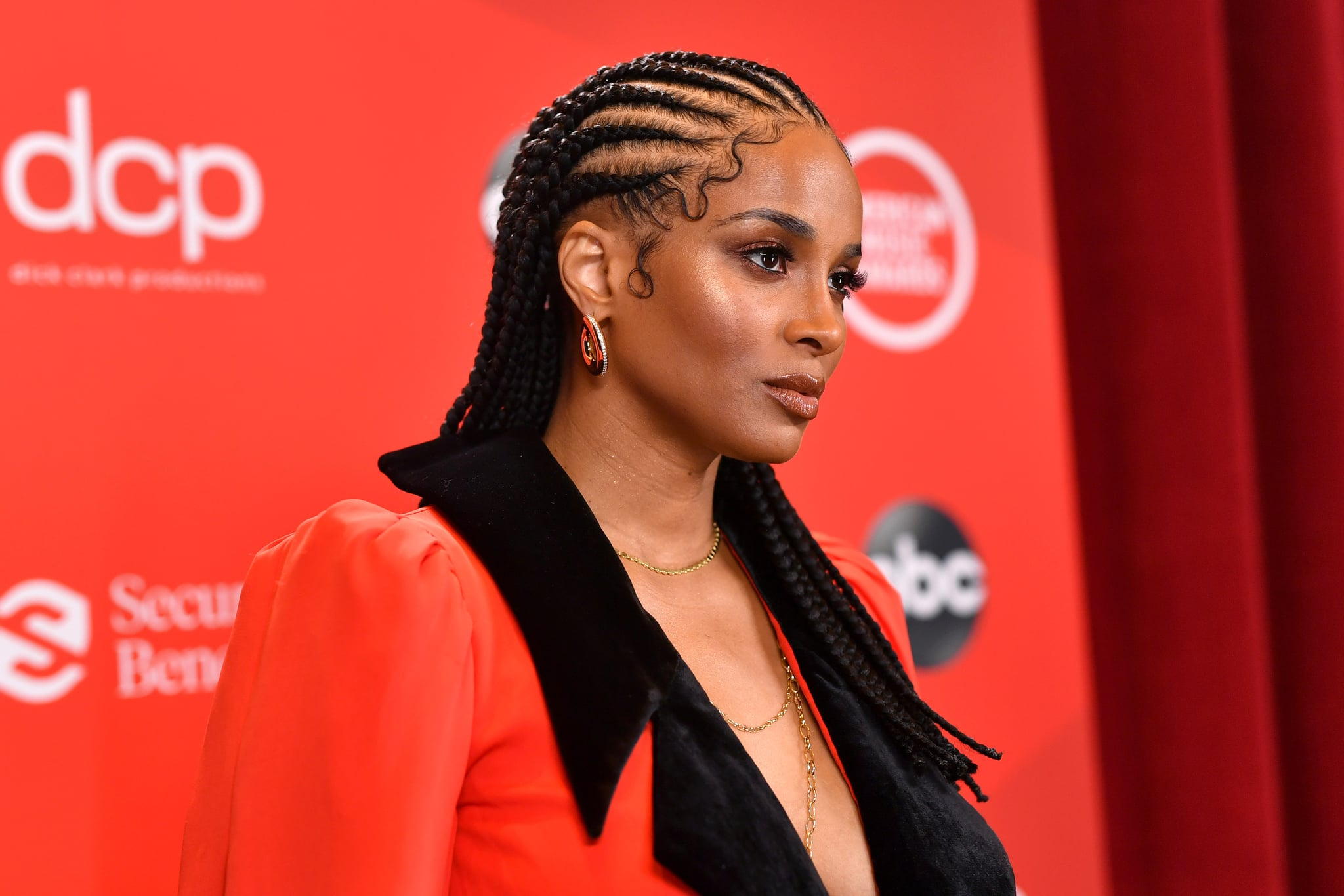LOS ANGELES, CALIFORNIA - NOVEMBER 22: In this image released on November 22, Ciara attends the 2020 American Music Awards at Microsoft Theatre on November 22, 2020 in Los Angeles, California. (Photo by Emma McIntyre /AMA2020/Getty Images for dcp)