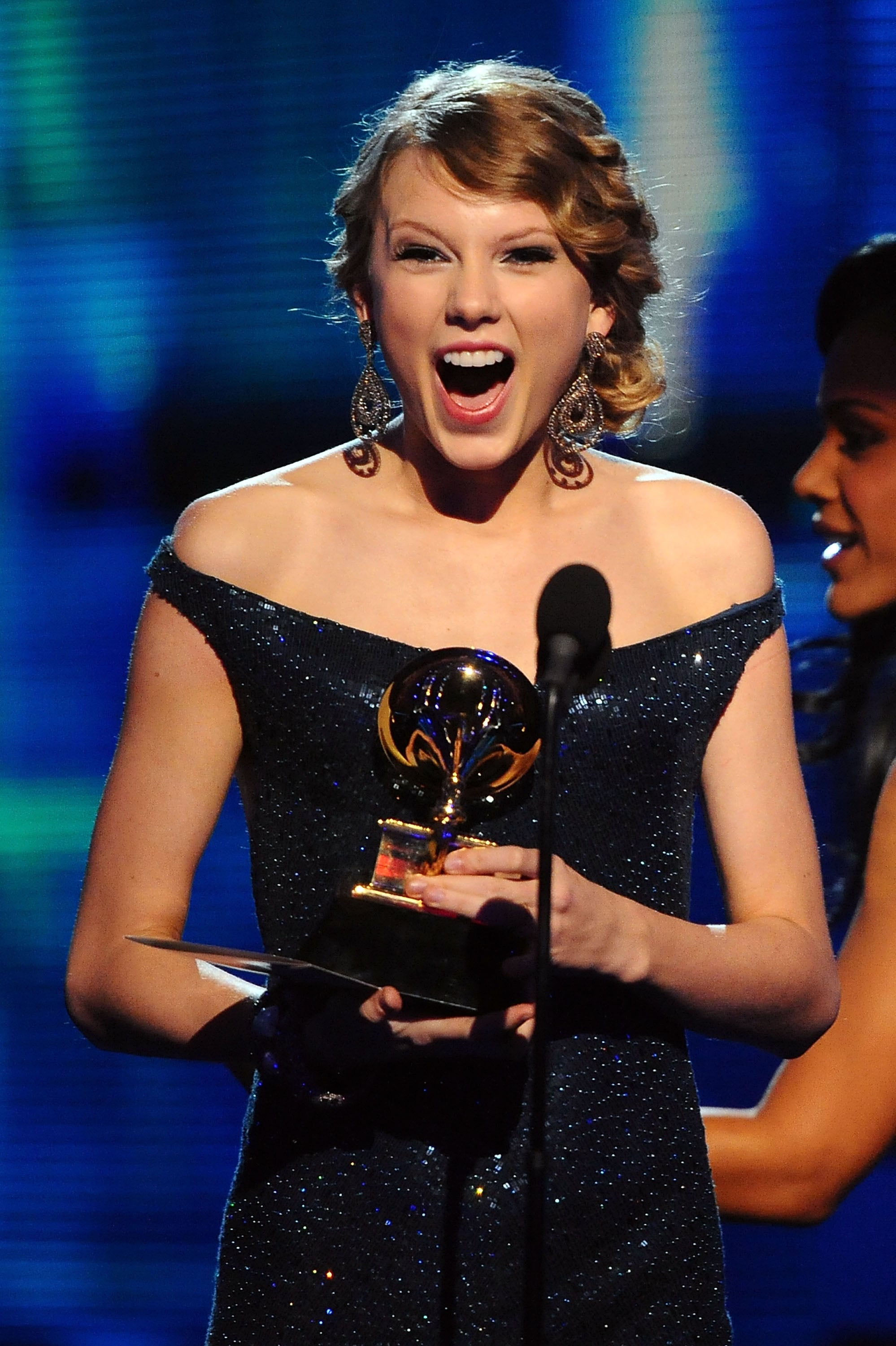 She took the stage to accept a Grammy in January 2010.
