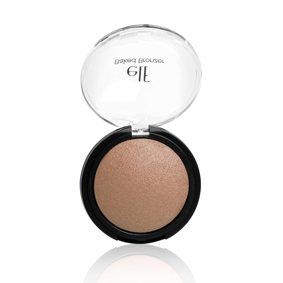 What's in the recipe for e.l.f Baked Highlighter ($4)? Jojoba oil, sunflower, apricot, and grape — a mix that will illuminate your skin in an instant. Plus, you can use it wet for an intense, vibrant effect or dry for something more natural and sheer — it's a double whammy.