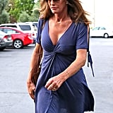 The sleeves of Caitlyn's breezy dress featured ties on both sides, in order to create the cutout effect.