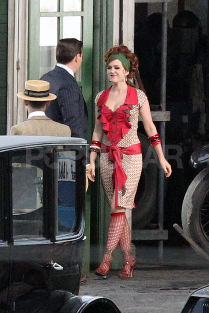 Isla Fisher approached Joel Edgerton on the set of The Great Gatsby.